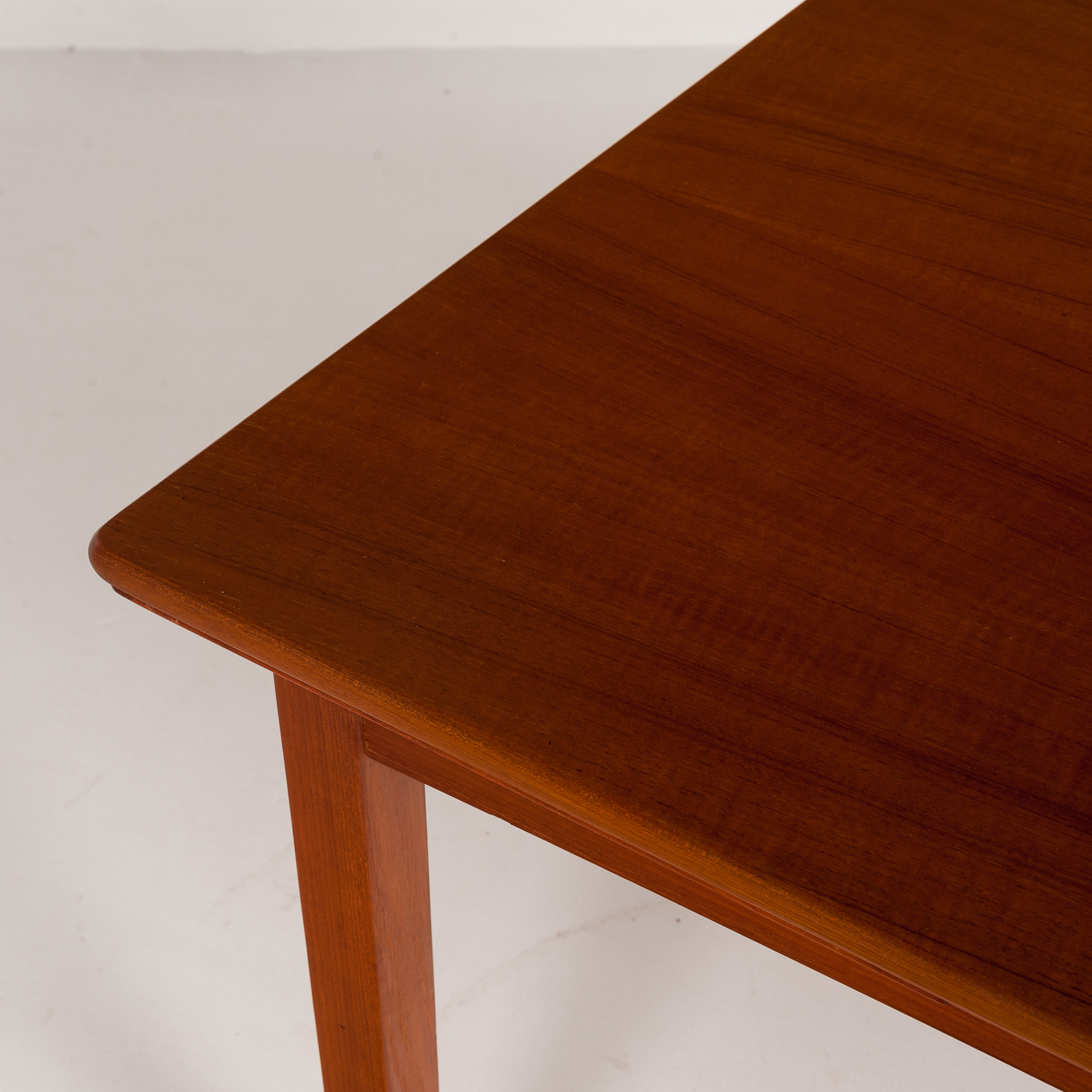 Rectangular Extension Dining Table In Teak With Square Legs, 1960s, Denmark6007
