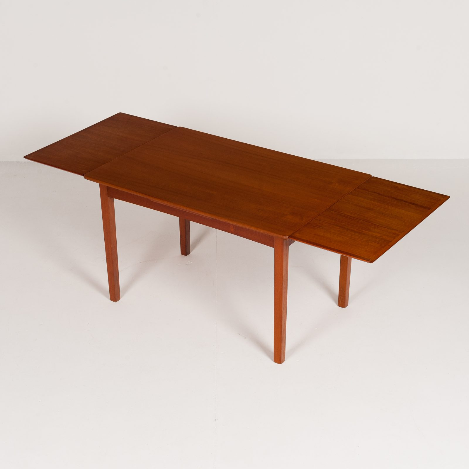 Rectangular Extension Dining Table In Teak With Square Legs, 1960s, Denmark6009