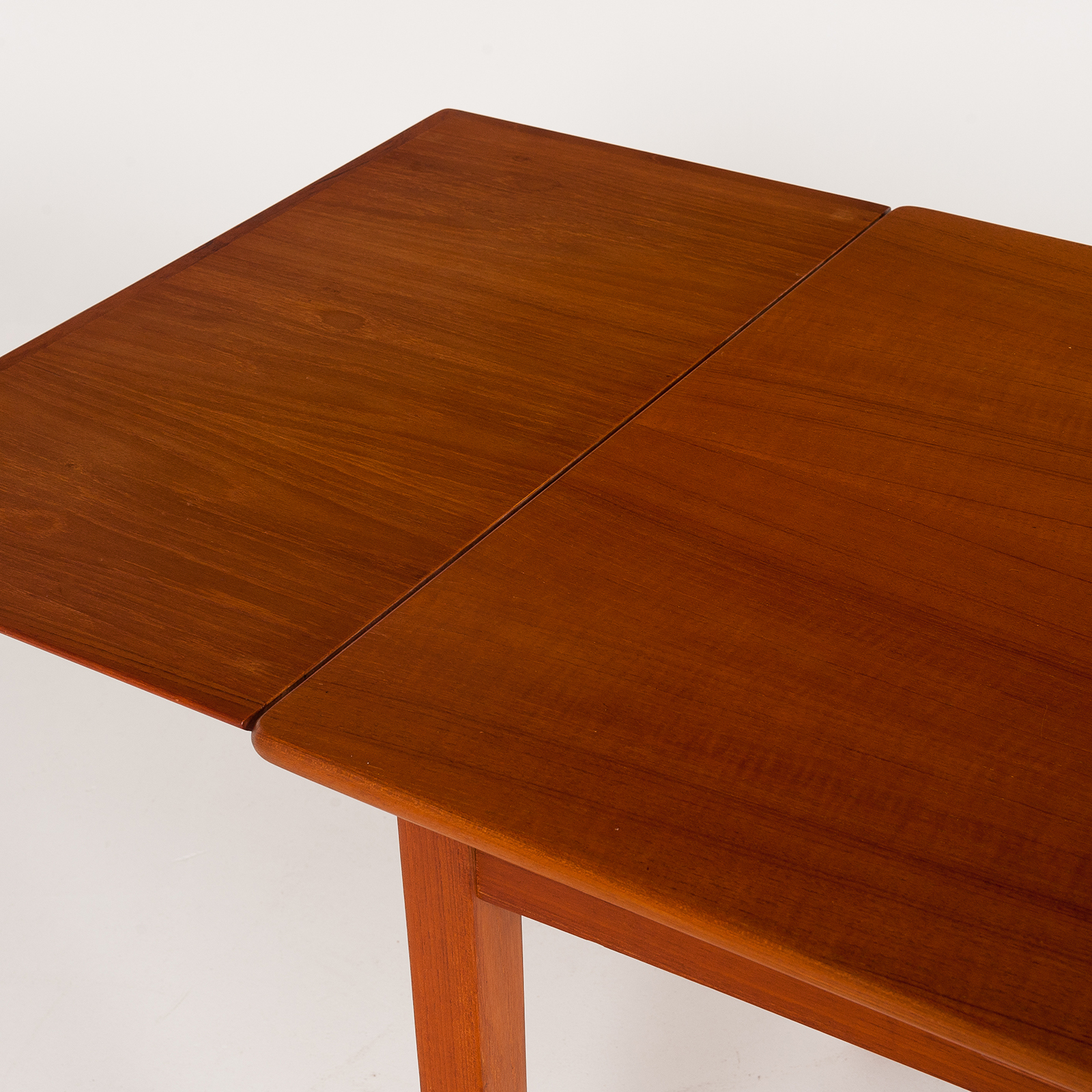 Rectangular Extension Dining Table In Teak With Square Legs, 1960s, Denmark6011