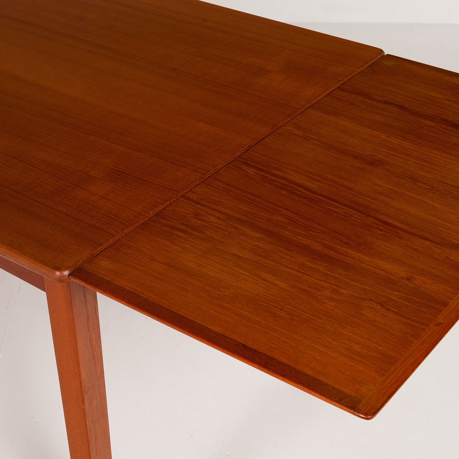 Rectangular Extension Dining Table In Teak With Square Legs, 1960s, Denmark6012