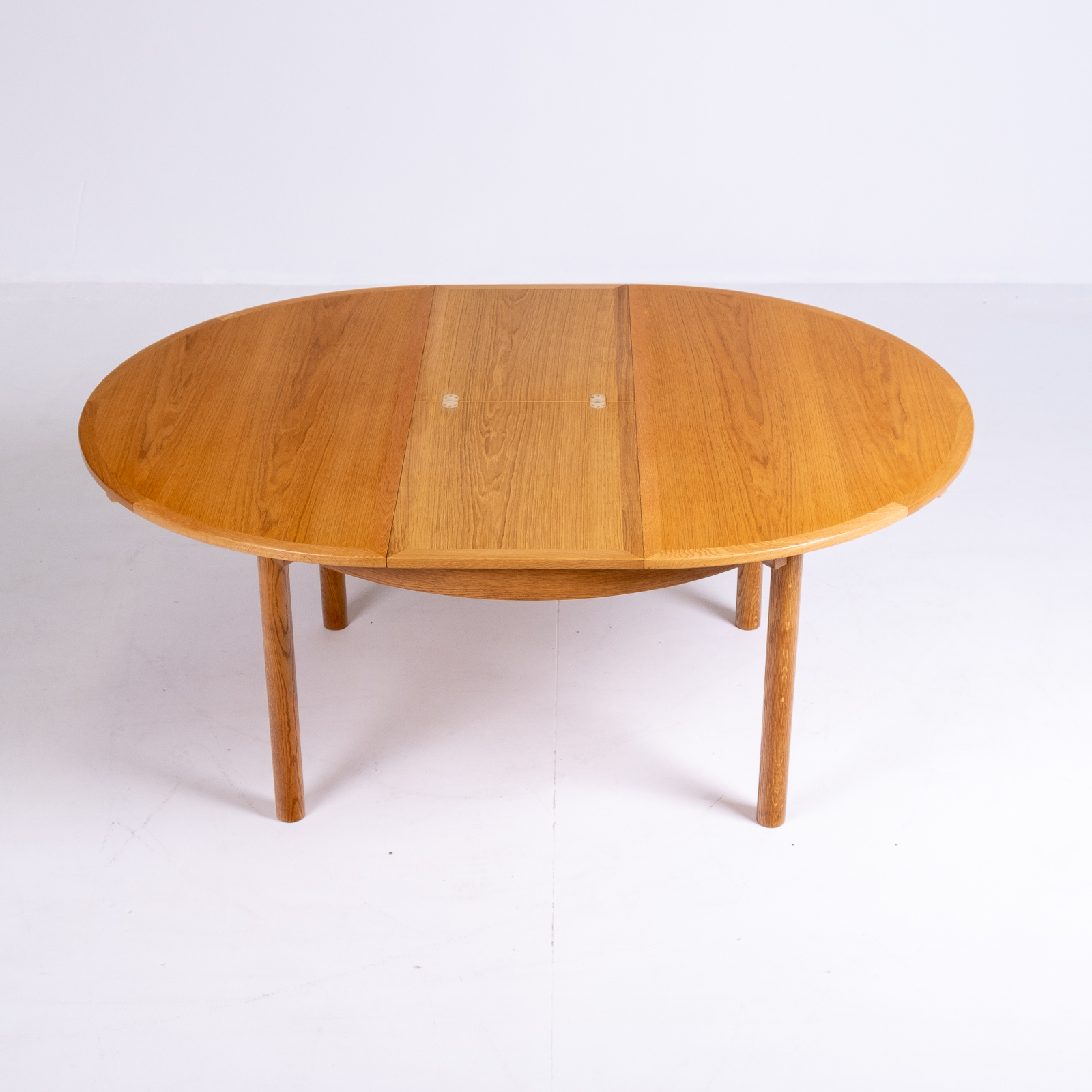 Round 140 Dining Table By Borge Mogensen For Karl Andersson & Söner In Oak With Butterfly Extensions, 1960s, Denmark76