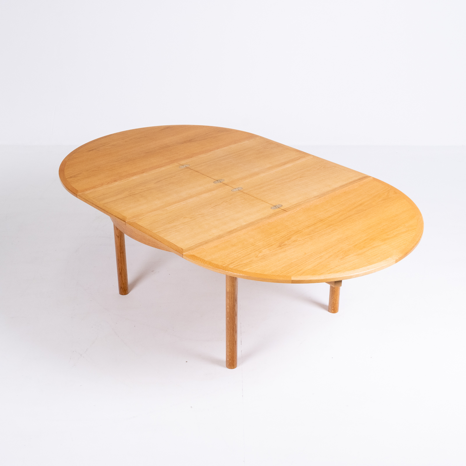 Round 140 Dining Table By Borge Mogensen For Karl Andersson & Söner In Oak With Butterfly Extensions, 1960s, Denmark80