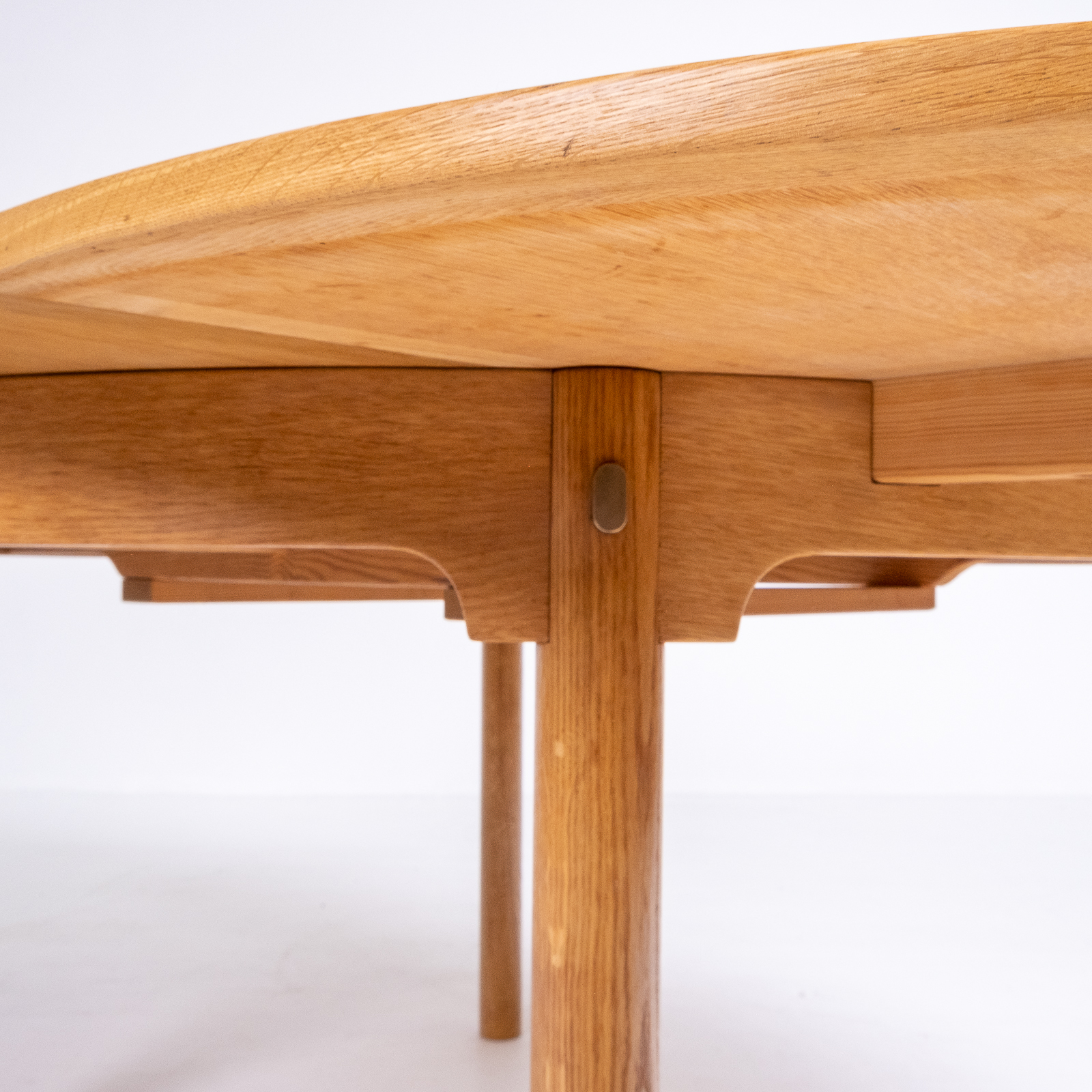 Round 140 Dining Table By Borge Mogensen For Karl Andersson & Söner In Oak With Butterfly Extensions, 1960s, Denmark83