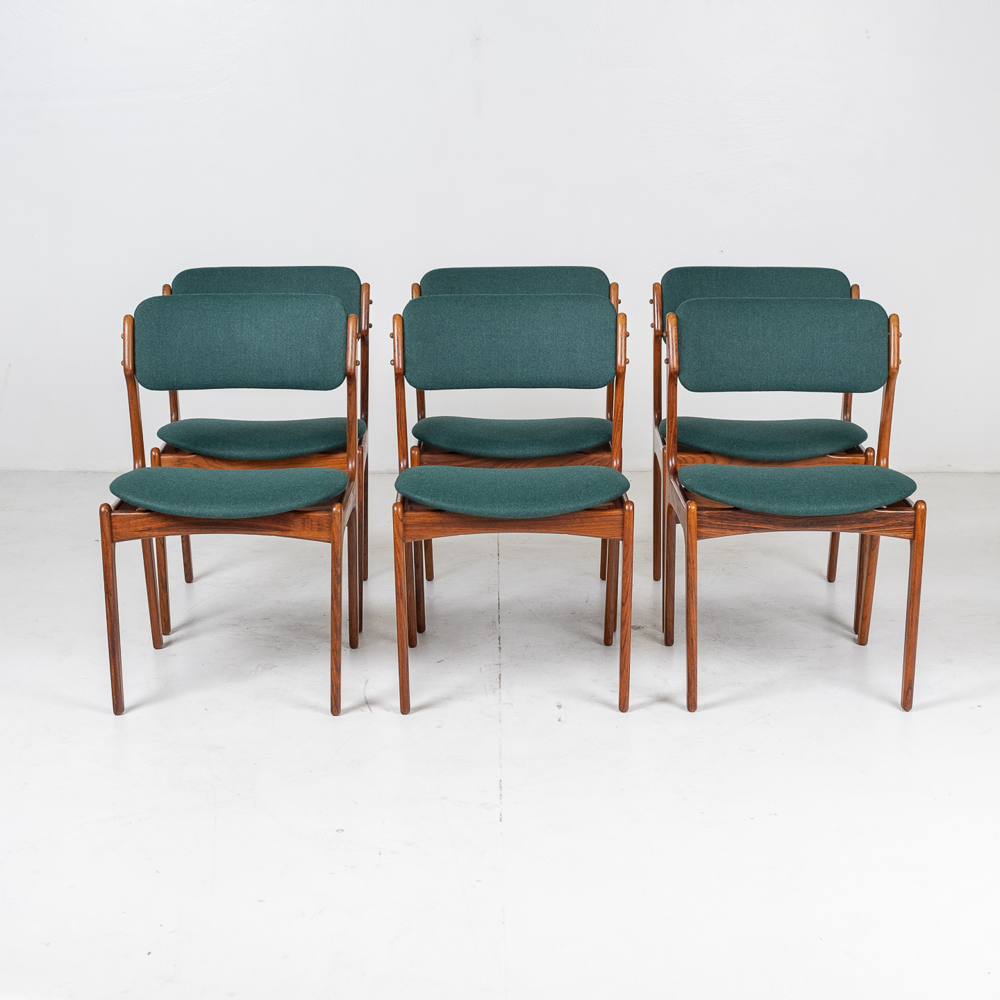 Set 6 Dining Chairs By Eric Buch In Rosewood, 1960s, Denmark 00007