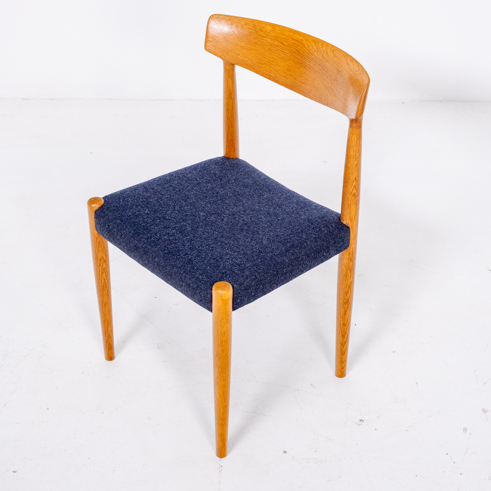 Set Of 6 Dining Chairs By Borge Mogensen For Fdb Mobler In Oak, 1960s, Denmark 00002