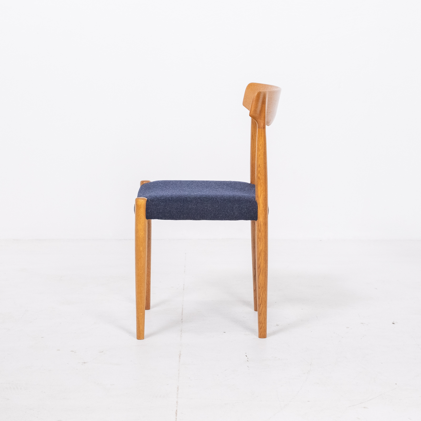Set Of 6 Dining Chairs By Borge Mogensen For Fdb Mobler In Oak, 1960s, Denmark 00005