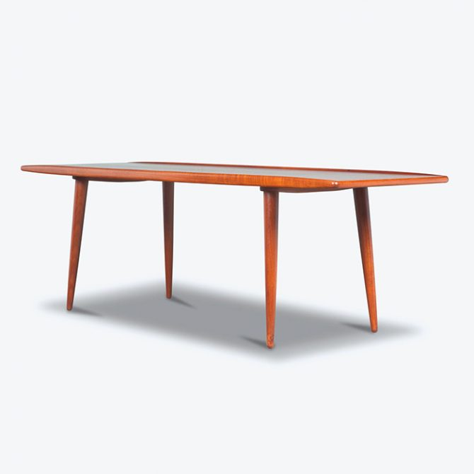 Coffee Table with Curved Edges in Teak, 1960s, Denmark