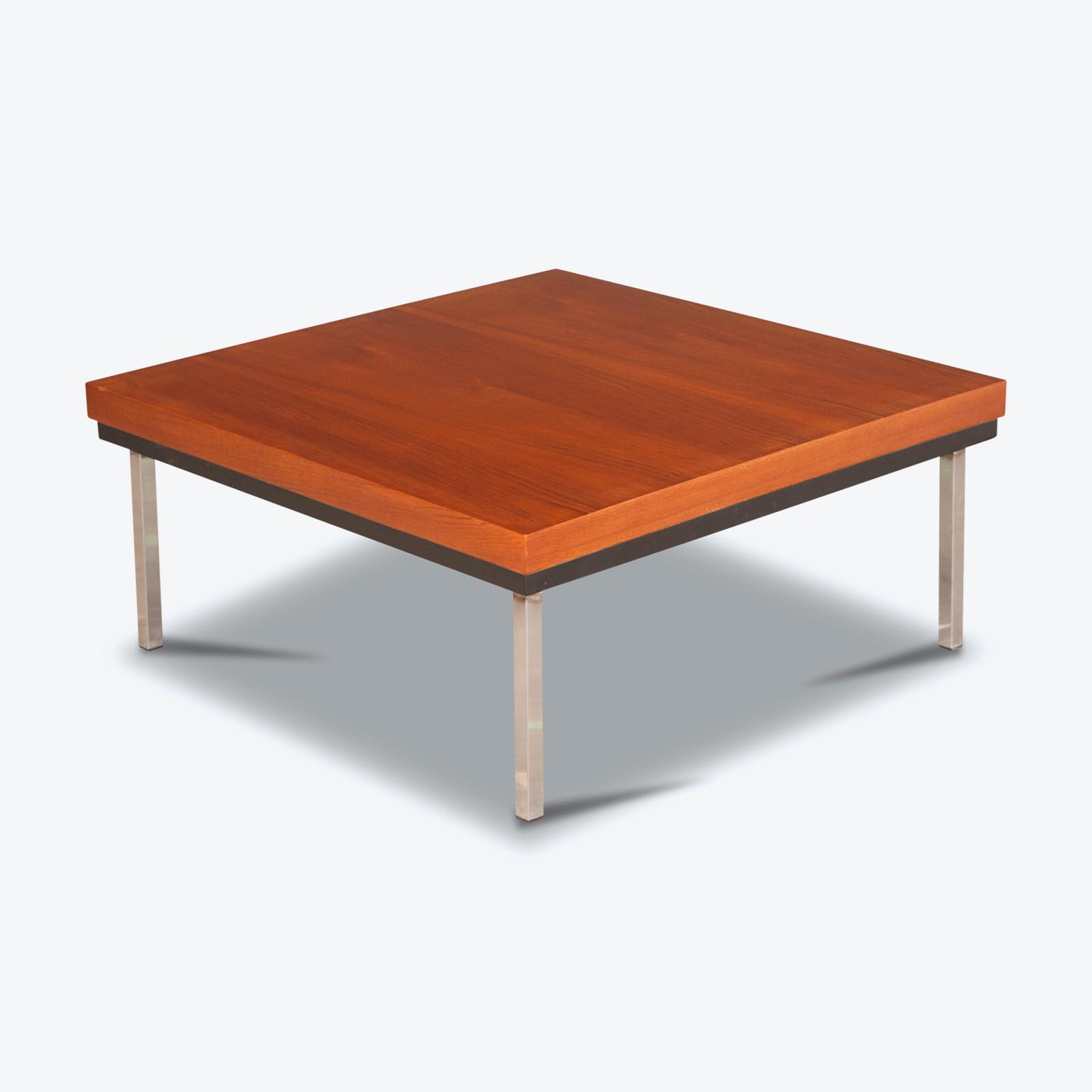 Coffee Table with Reversible Teak and White Laminate Top 1960s