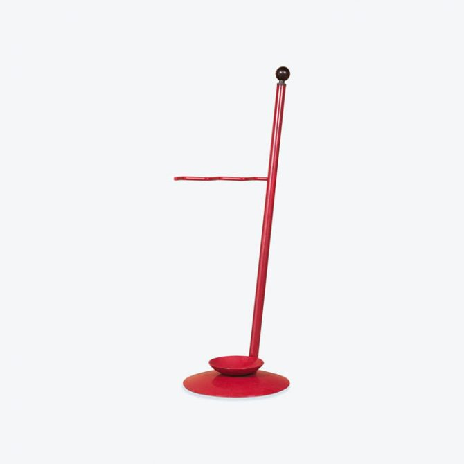 Memphis Style Umbrella Stand in Metal, 1980s, Italy
