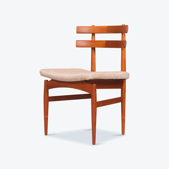 Set 6 Model 30 Dining Chairs by Poul Hundevad in Teak, 1958, Denmark