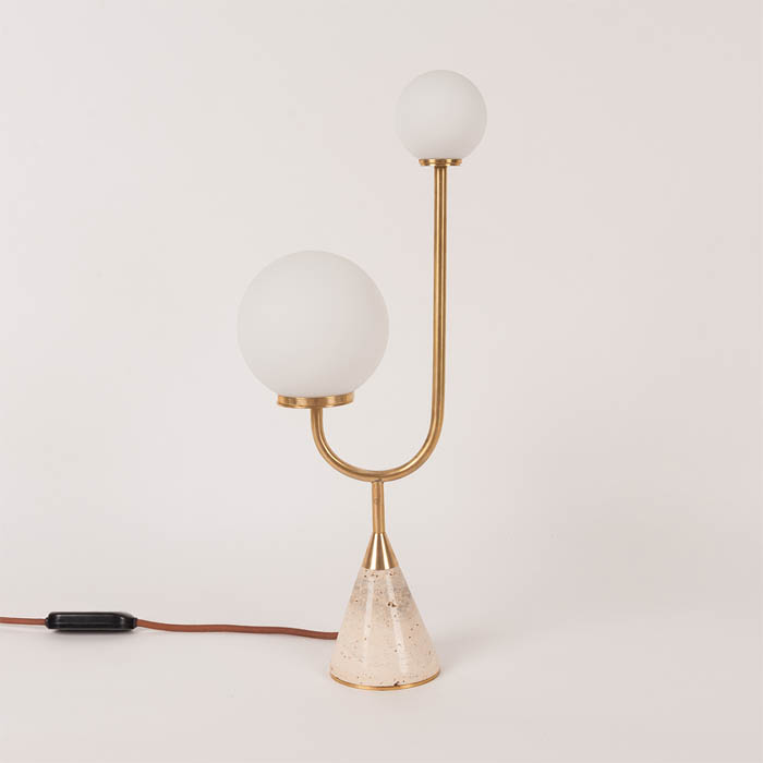 Arancini Junior Lamp by Moda Piera in Brass and Italian Travertine, 2017, Australia