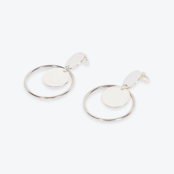 Deco Earrings, in Sterling Silver by Toyah Perry