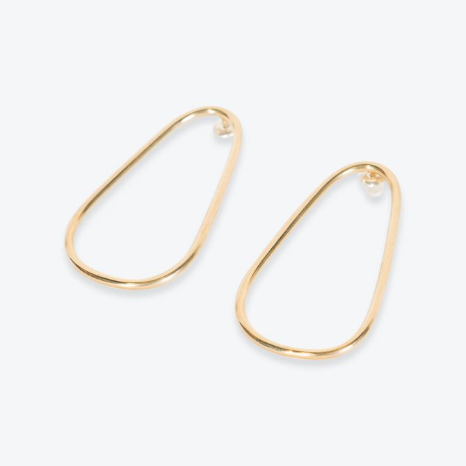 Etta Earrings, in Sterling Silver and Gold Plate by Toyah Perry