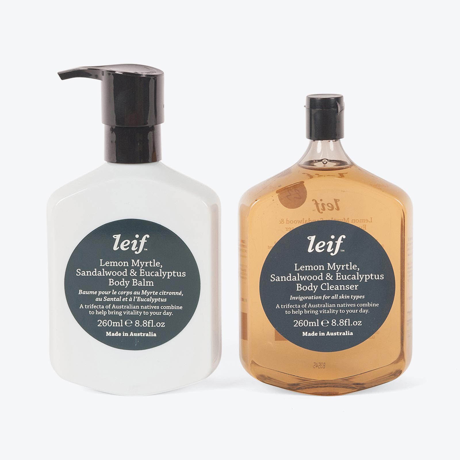 Invigoration Body Double Gift Box in Lemon Myrtle by Leif