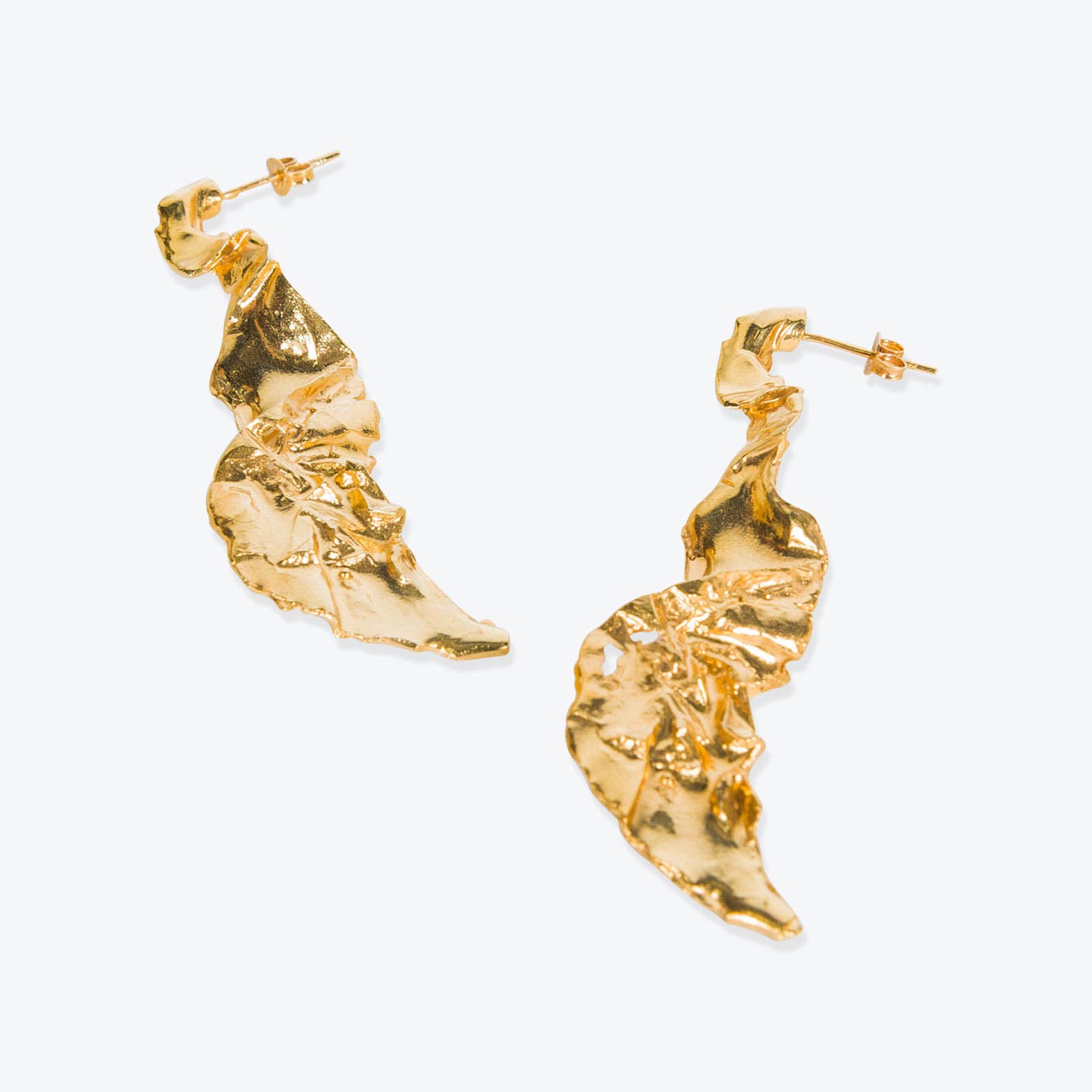Yosemite Stud, Gold Plated Pair of Earrings by By Nye